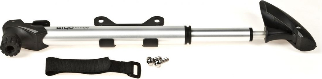 """Велосипедный насос Giyo, высокого давления, AL, max 120 psi(8атм), """"авто/вело ниппель, телескопический, складная Т- образная ручка"""