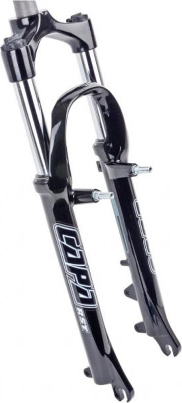 Вилка амортизационная RST Capa ML, для велосипедов 24, ход 50мм, цвет: черный, под дисковый тормоз и V-brake gbs ultralight foldable bicycle brake handle aluminum 7075 cnc folding bike v brake lever for dahon sp8 sp18 bike accessory