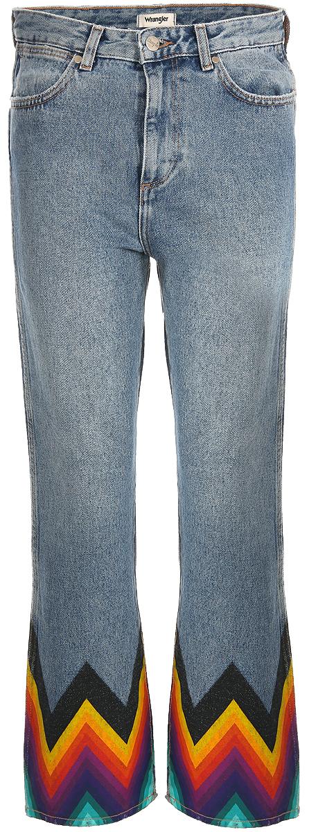 Джинсы женские Wrangler Retro Crop Straight, цвет: синий. W27YER19K. Размер 27-32 (42/44-32)