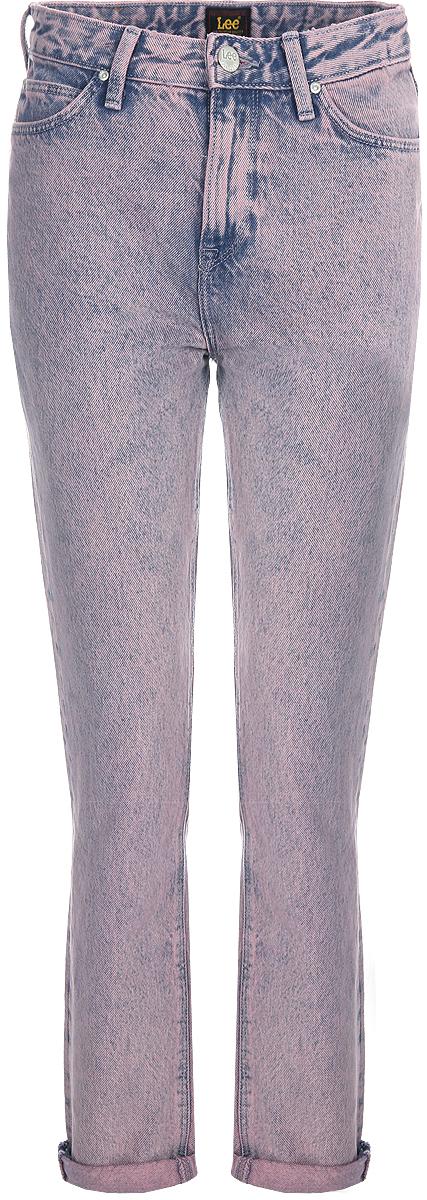 Джинсы женские Lee Mom Straight, цвет: сиреневый. L32IRDDD. Размер 27-31 (42/44-31)