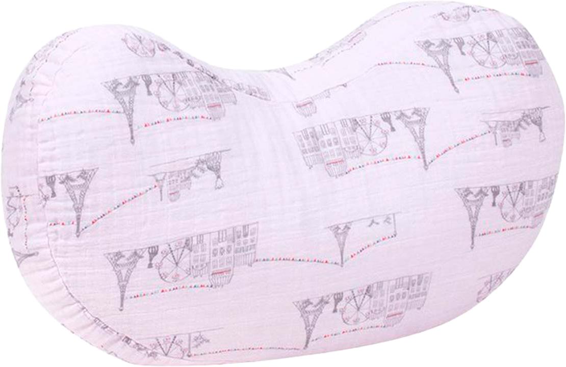 Bebe Au Lait Подушка для кормления Carousel Pink 61 х 38 см полотенце с капюшоном bebe au lait unikiki tbcui 7177