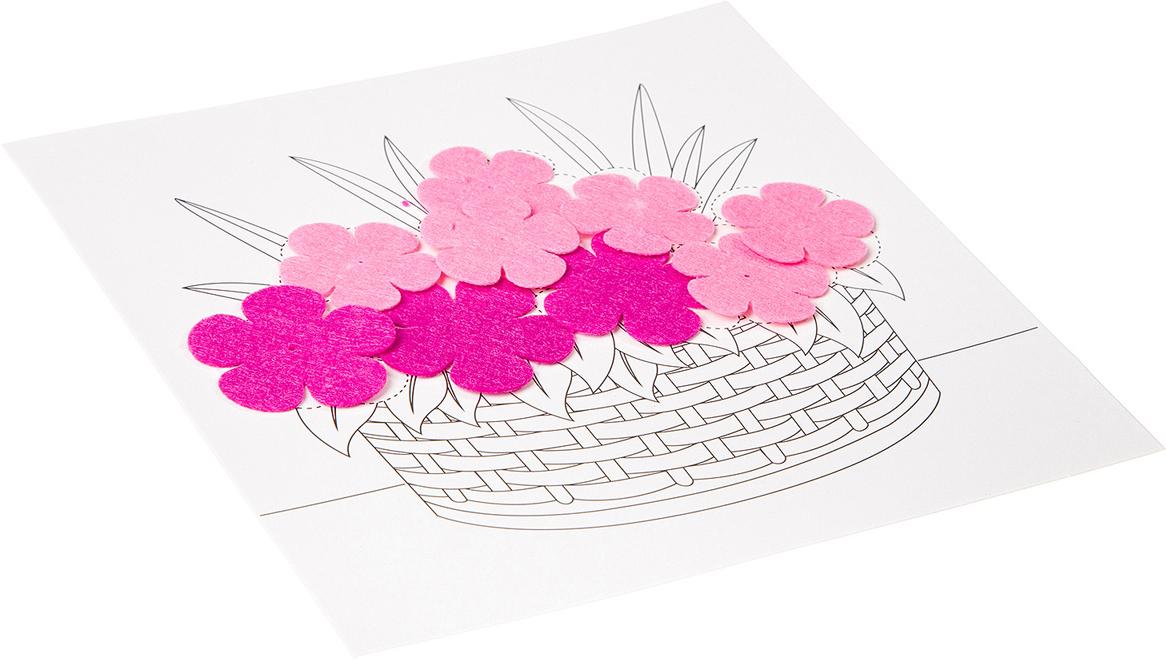 Bondibon Поделка из бумаги Картина своими руками Букет цветов
