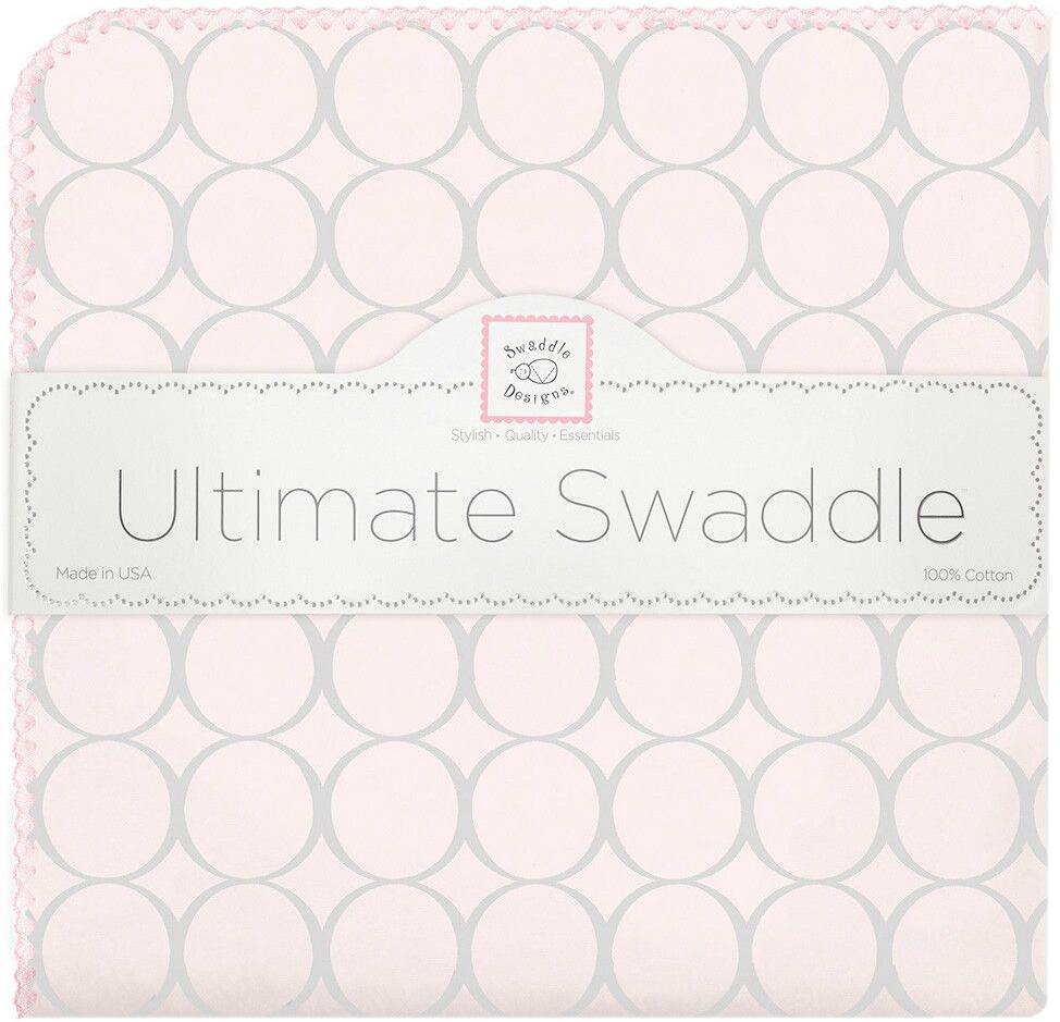 SwaddleDesigns Пеленка фланелевая Пастель круги цвет розовый фланелевая пеленка swaddledesigns для новорожденного pink chickies sd 162p