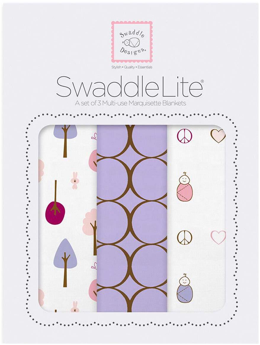 SwaddleDesigns Набор пеленок SwaddleLite Cute & Calm Lavender 3 шт набор шкатулок для рукоделия bestex 3 шт zw001250