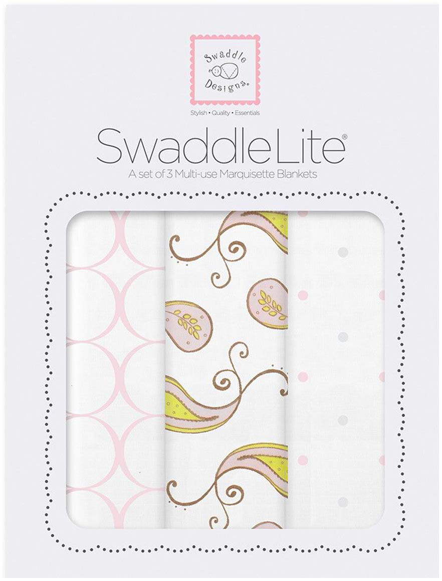 SwaddleDesigns Набор SwaddleLite Paisley Pink 3 шт