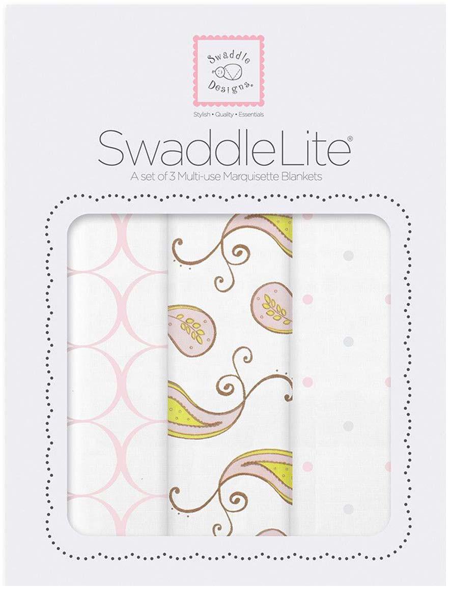 SwaddleDesigns Набор пеленок SwaddleLite Paisley Pink 3 шт говорим с пеленок 2017 арт 1055