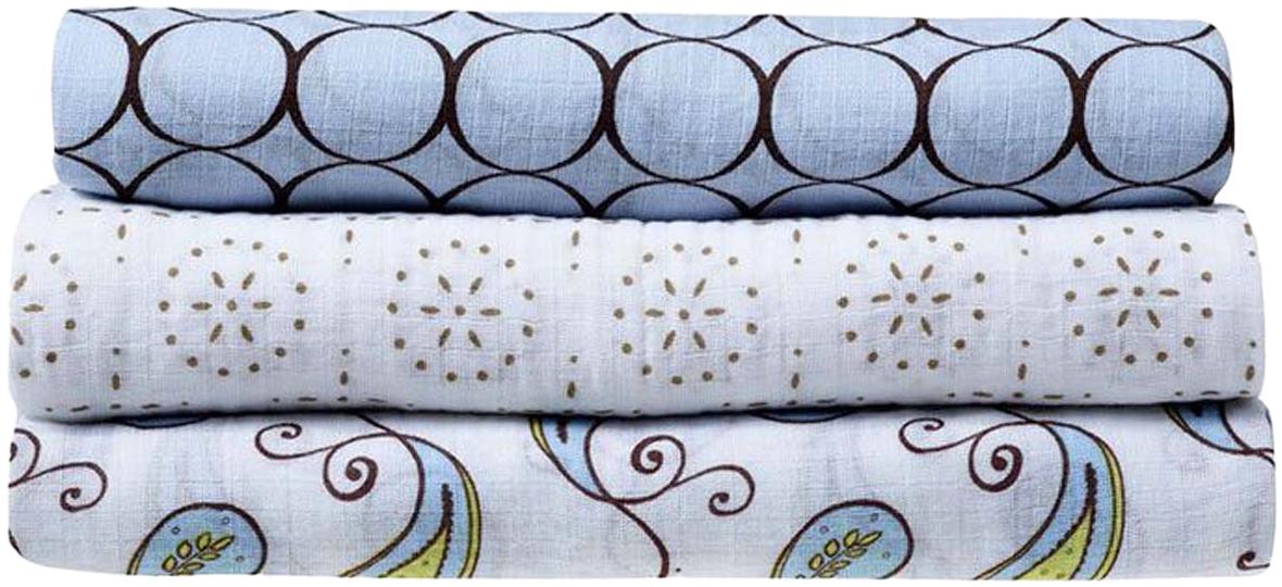 SwaddleDesigns Набор пеленок SwaddleLite Pastel Blue Modern 3 шт набор шкатулок для рукоделия bestex 3 шт zw001250