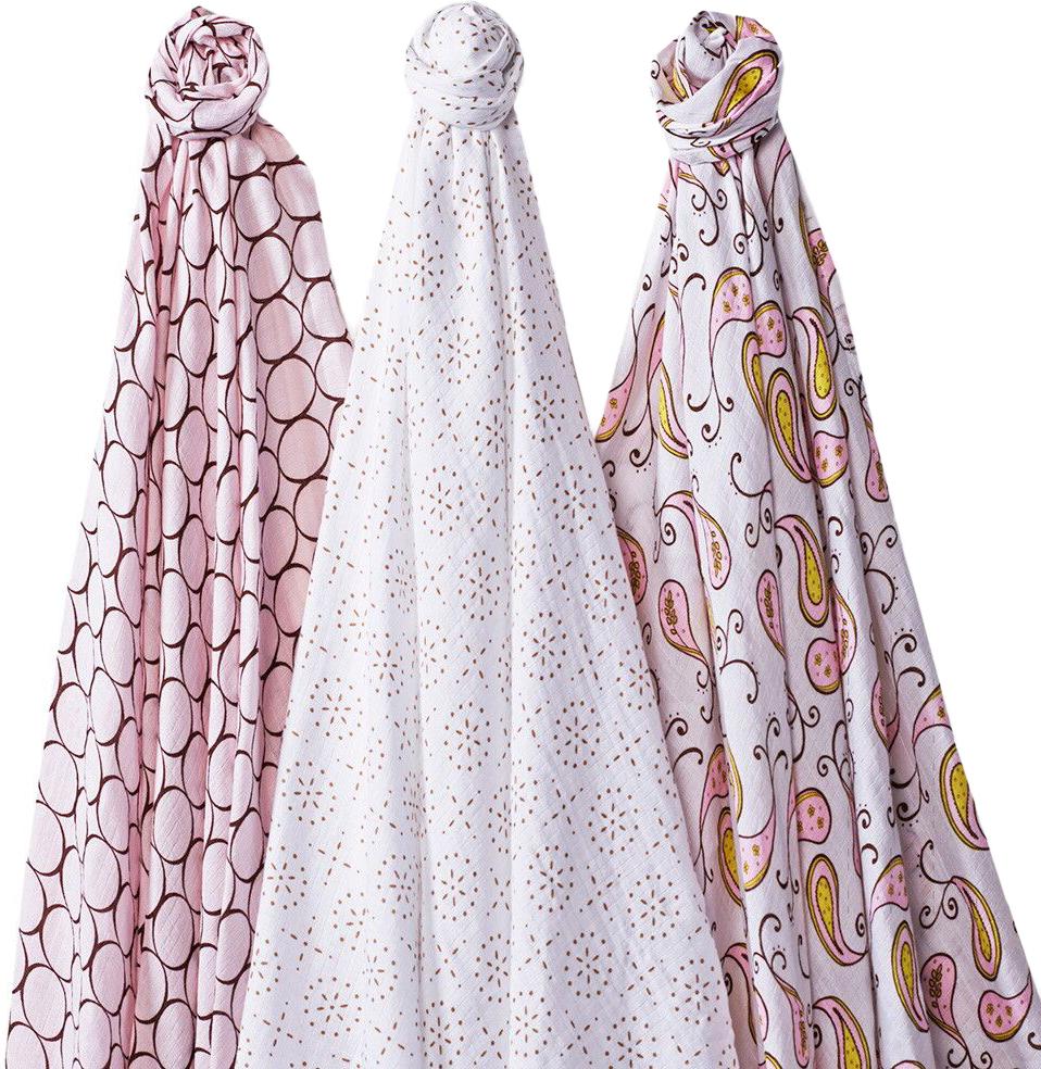 SwaddleDesigns Набор пеленок SwaddleLite Modern Pink 3 шт говорим с пеленок 2017 арт 1055