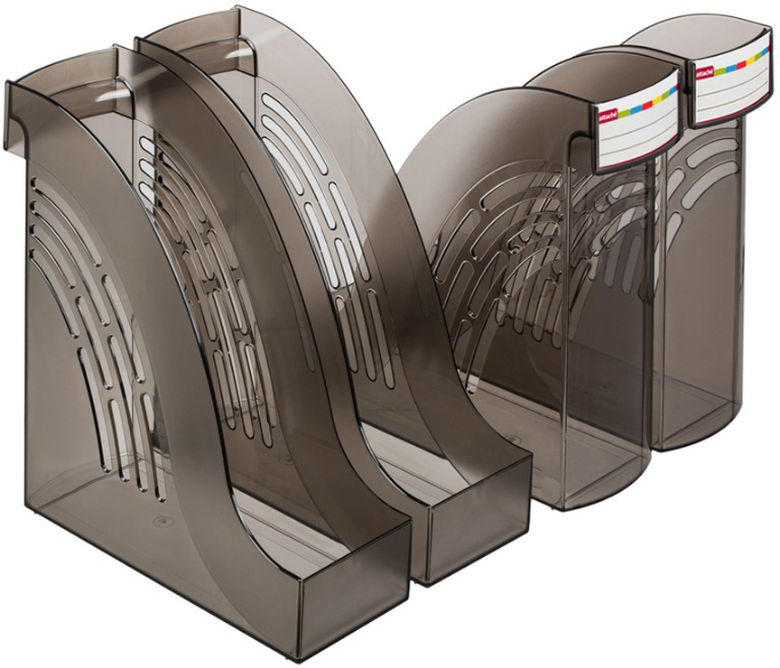 Attache Подставка для документов цвет дымчатый 4 шт -  Лотки, подставки для бумаг