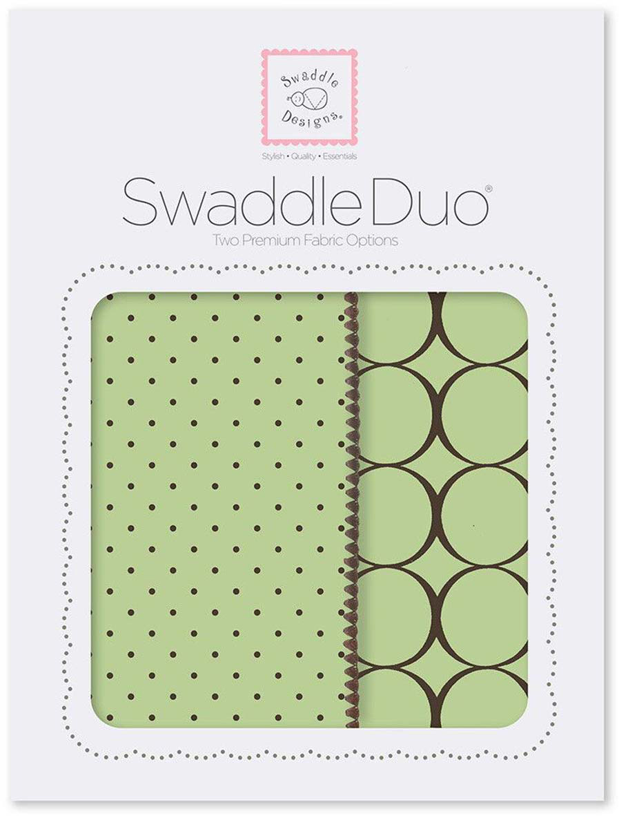 SwaddleDesigns Набор пеленок Swaddle Duo Lime Modern 2 шт набор пеленок swaddledesigns swaddle duo pstl pink modern