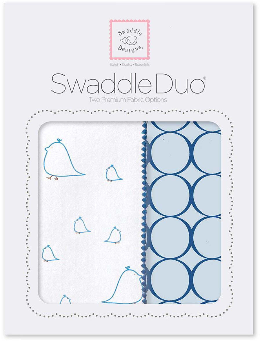SwaddleDesigns Набор Swaddle Duo BL Big Chickies 2 шт