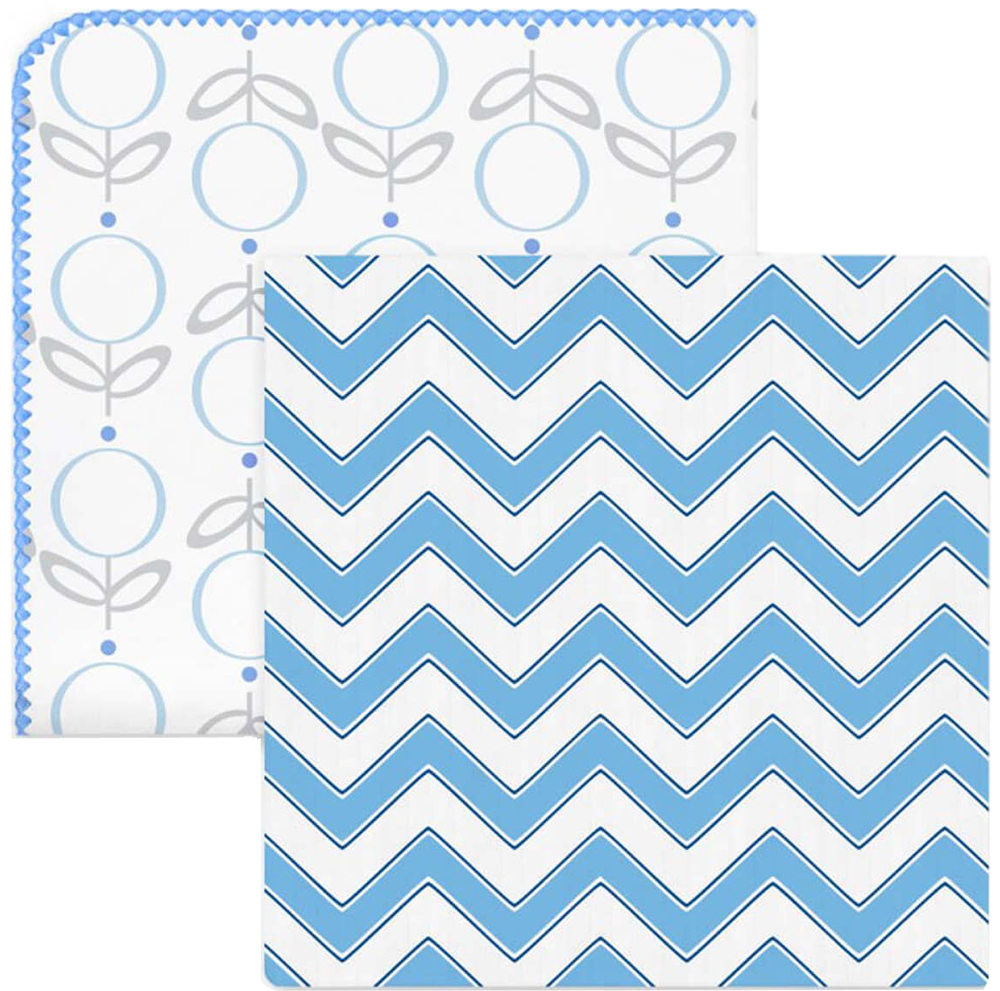 SwaddleDesigns Набор Swaddle Duo Lolli Chevron Blue 2 шт
