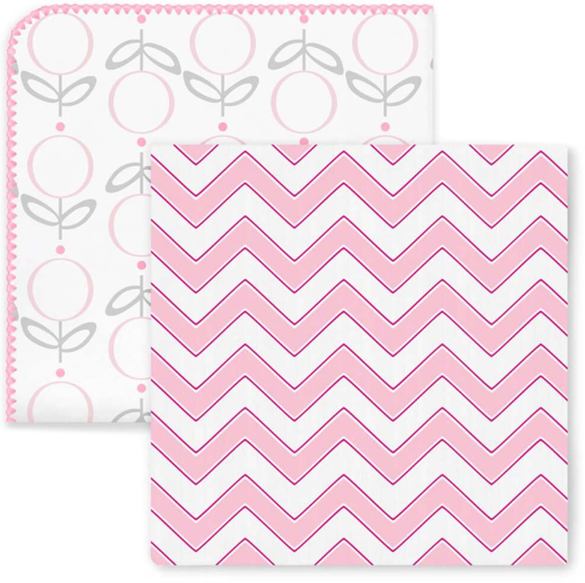 SwaddleDesigns Набор пеленок Swaddle Duo Lolli Chevron Pink 2 шт набор пеленок swaddledesigns swaddle duo pstl pink modern