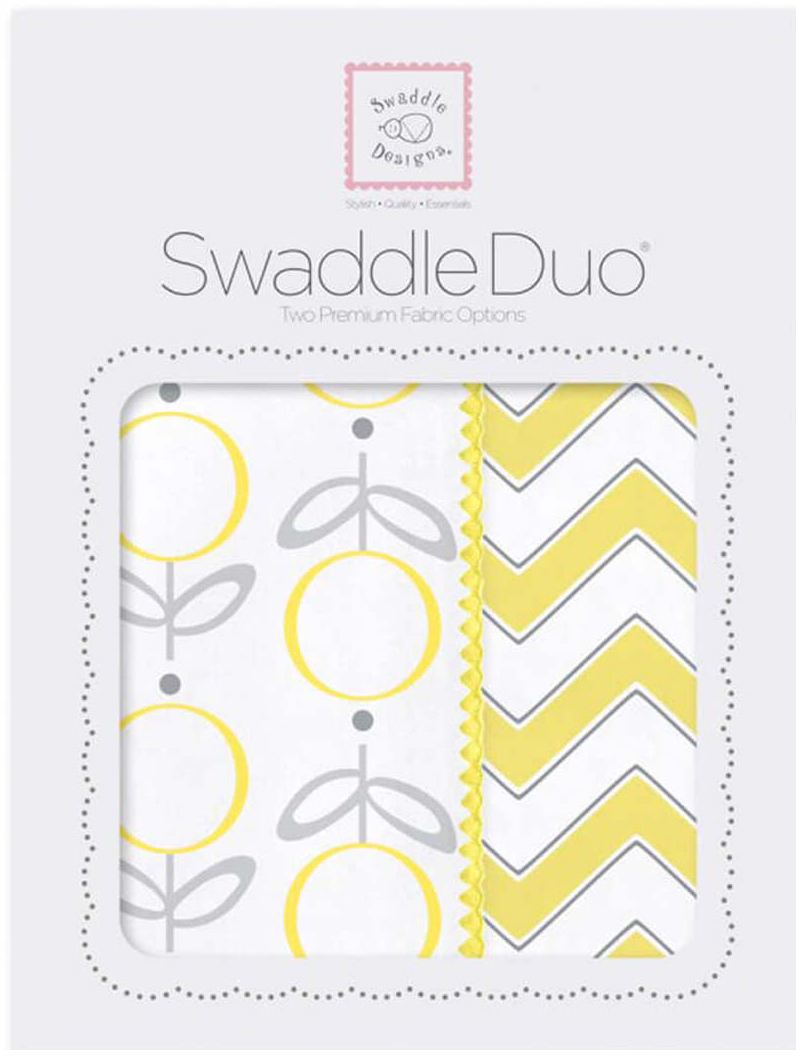 SwaddleDesigns Набор Swaddle Duo Lolli Chevron Yellow 2 шт