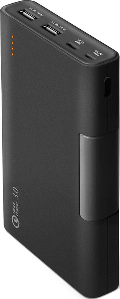 Qumo PowerAid QC 3.0, Black внешний аккумулятор (13 200 мАч)