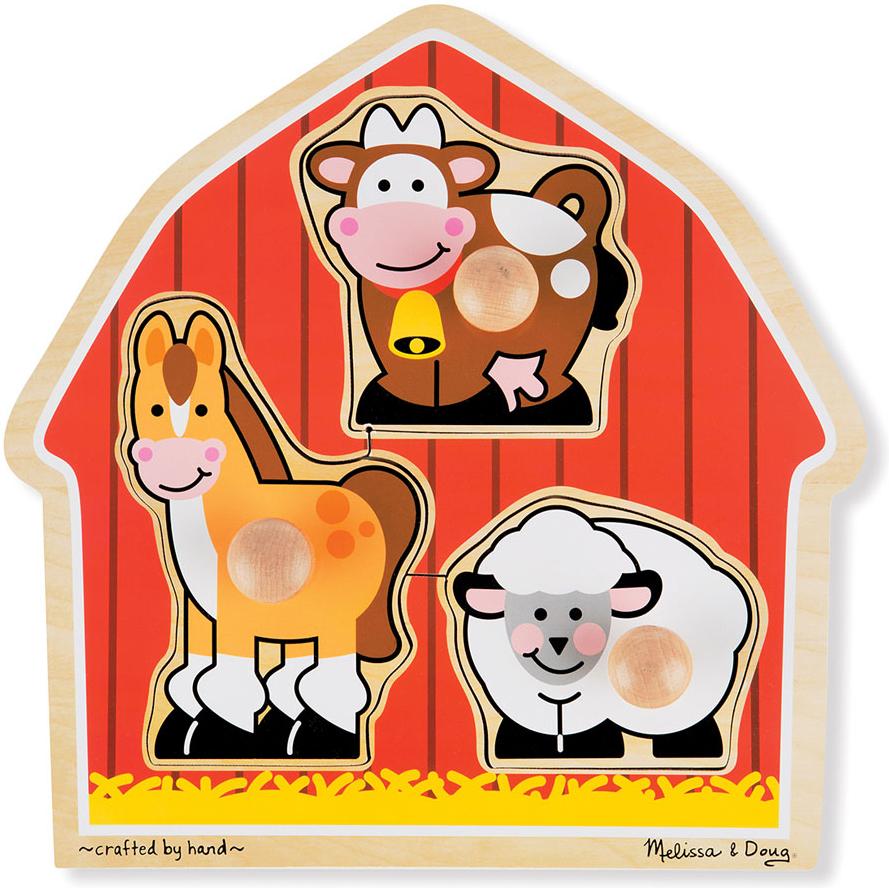Melissa & Doug Пазл для малышей Мои первые пазлы Животные с фермы