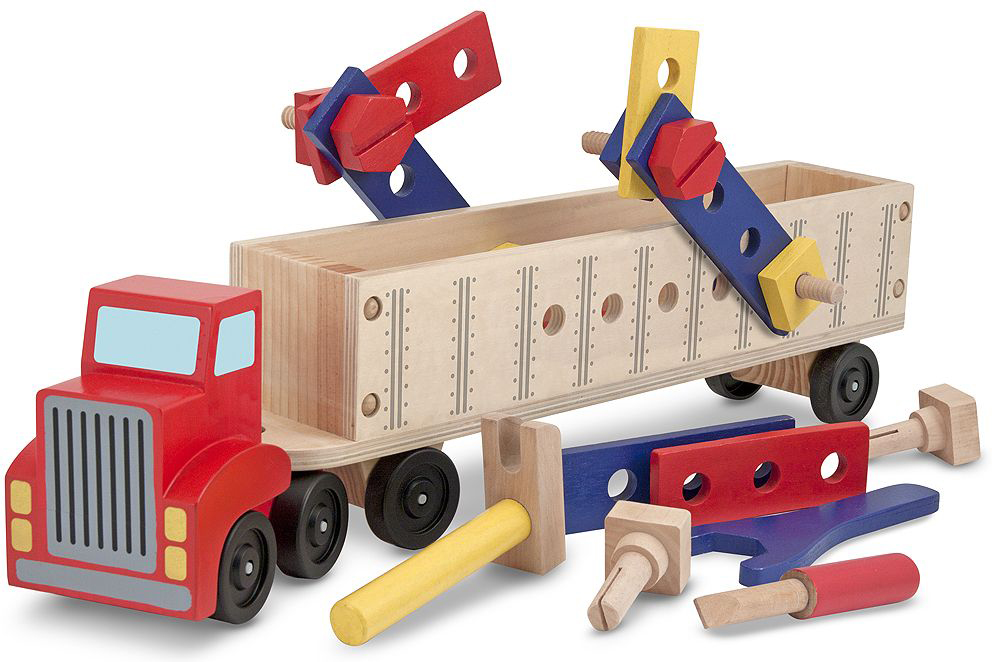 Melissa & Doug Обучающая игра Классические игрушки Конструктор в прицепе инструмент классические игрушки melissa