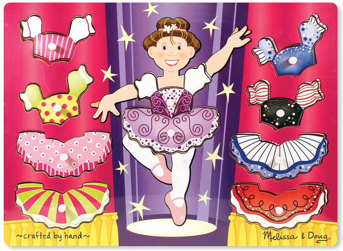 Melissa & Doug Пазл для малышей Мои первые пазлы Переодень балерину