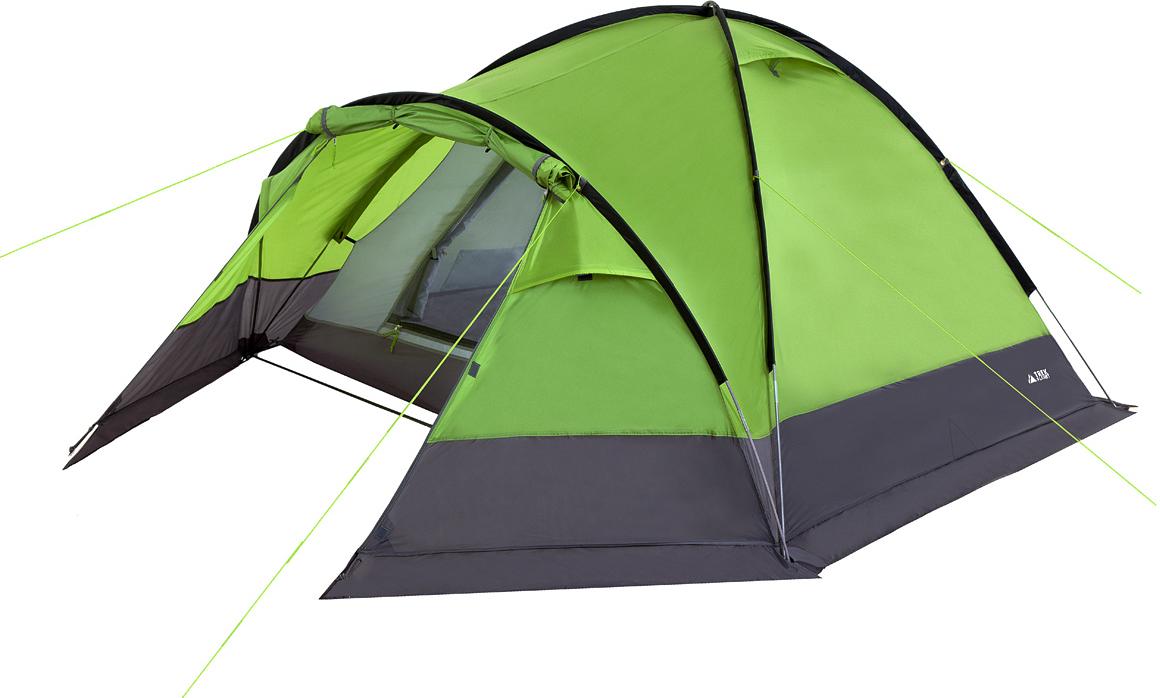 Палатка четырехместная TREK PLANET Zermat 4, цвет: зеленый