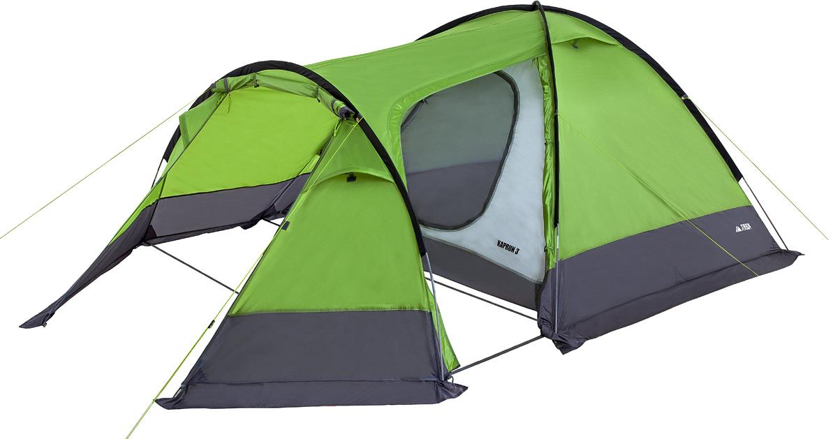Палатка трехместная TREK PLANET Kaprun 3, цвет: зеленый