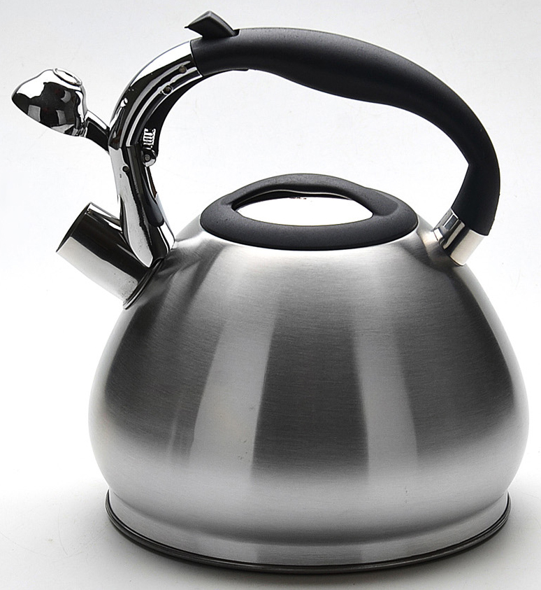 """Чайник """"Mayer & Boch"""" изготовлен из высококачественной нержавеющей стали (CrNi 18/10). Изделия из нержавеющей стали не окисляются и не впитывают запахи, благодаря чему вы всегда получите натуральный, насыщенный вкус и аромат напитков. Особая конструкция дна способствует высокой теплопроводности и равномерному распределению тепла. Фиксированная эргономичная ручка выполнена из нержавеющей стали и бакелита, также на ручке расположена клавиша механизма открывания носика. Носик чайника оснащен насадкой-свистком, который позволяет контролировать процесс кипячения или подогрева воды. Поверхность чайника гладкая, что облегчает уход за ним. Эстетичный и функциональный, с современным дизайном, чайник будет оригинально смотреться на любой кухне. Подходит для использования на всех типах плит, кроме индукционных. Подходит для мытья в посудомоечной машине."""