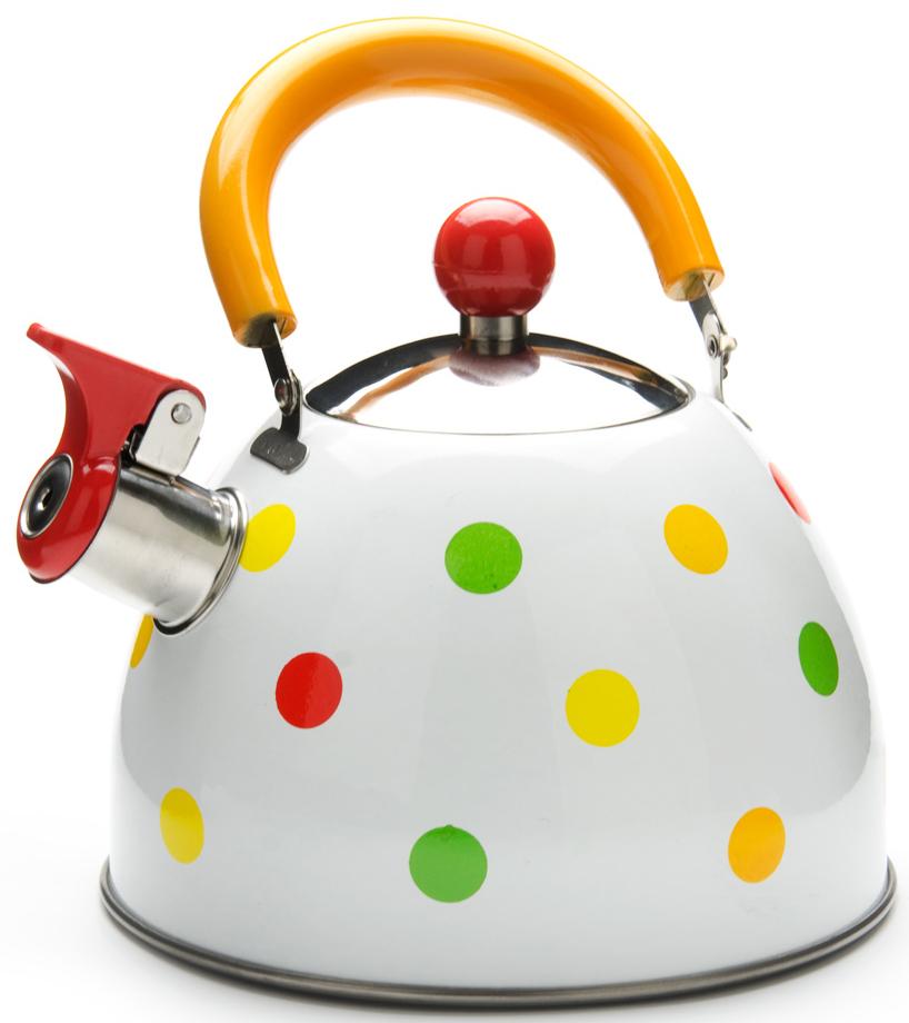 """Чайник """"Mayer & Boch"""" изготовлен из высококачественной нержавеющей стали. Изделия из нержавеющей стали не окисляются и не впитывают запахи, благодаря чему вы всегда получите натуральный, насыщенный вкус и аромат напитков. Ручка выполнена из нейлона. Носик чайника оснащен насадкой-свистком, который позволяет контролировать процесс кипячения или подогрева воды. Поверхность чайника гладкая, что облегчает уход за ним. Эстетичный и функциональный, с современным дизайном, чайник будет замечательно смотреться на любой кухне. Подходит для использования на всех типах плит, кроме индукционных. Подходит для мытья в посудомоечной машине."""