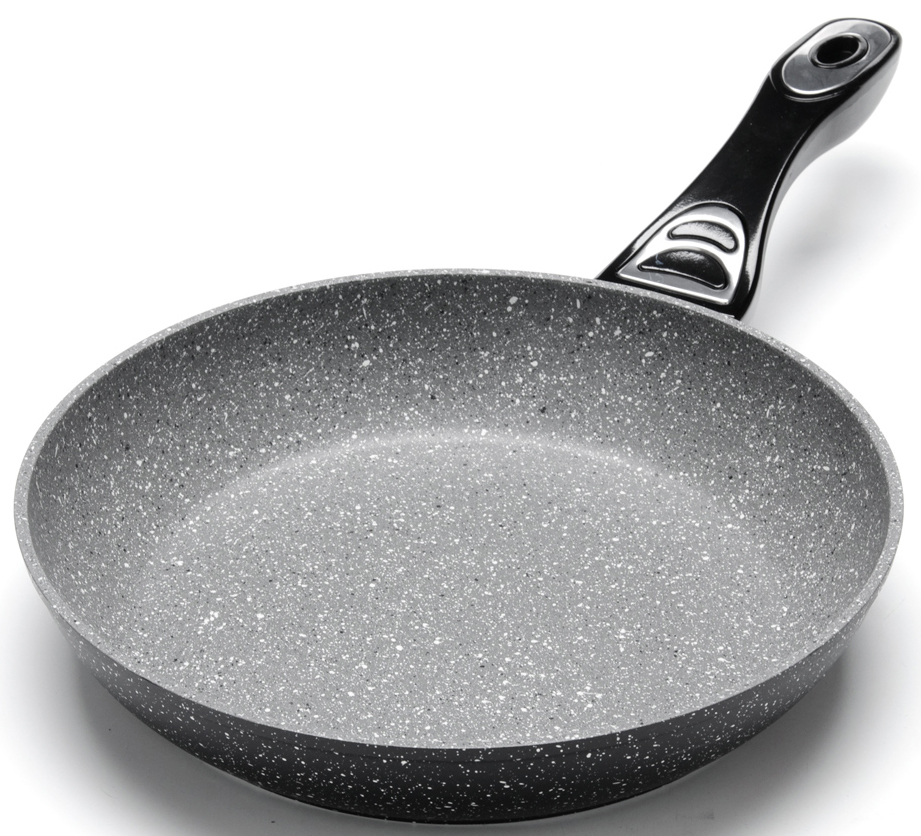 """Сковорода с мраморной крошкой """"Mayer & Boch"""" выполнена из качественного литого алюминия и снабжена антипригарным покрытием особой прочности. Антипригарное жаропрочное покрытие защищает сковороду от царапин, является экологически чистым и полностью безопасным, без вредных соединений и примесей. За счет того, что пища не пригорает и не пристает к покрытию сковороды, ее легко и быстро мыть. Прочное индукционное дно сковороды устойчиво к повреждениям и деформации. Эргономичная ручка из бакелита не нагревается и не скользит. Такая сковорода является незаменимой для жарки и тушения различных блюд. Подходит для использования на всех типах плит. Подходит для мытья в посудомоечной машине."""