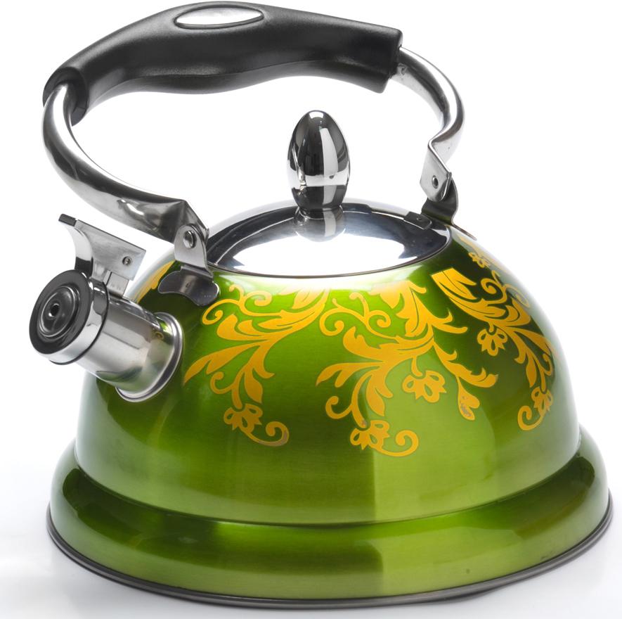 """Чайник """"Mayer & Boch"""" изготовлен из высококачественной нержавеющей стали.  Изделия из нержавеющей стали не окисляются и не впитывают запахи,  благодаря чему вы всегда получите натуральный, насыщенный вкус и аромат  напитков.  Капсулированное дно с прослойкой из алюминия обеспечивает наилучшее  распределение тепла. Удобная подвижная ручка выполнена из нержавеющей  стали и бакелита. Носик чайника оснащен насадкой-свистком, который  позволяет контролировать процесс кипячения или подогрева воды.  Поверхность чайника гладкая и покрыта цветным термостойким лаком, что  облегчает уход за ним. Красивый и функциональный, с эксклюзивным  дизайном, чайник будет оригинально смотреться на любой кухне.  Подходит для использования на всех типах плит, включая индукционные.  Подходит для мытья в посудомоечной машине."""