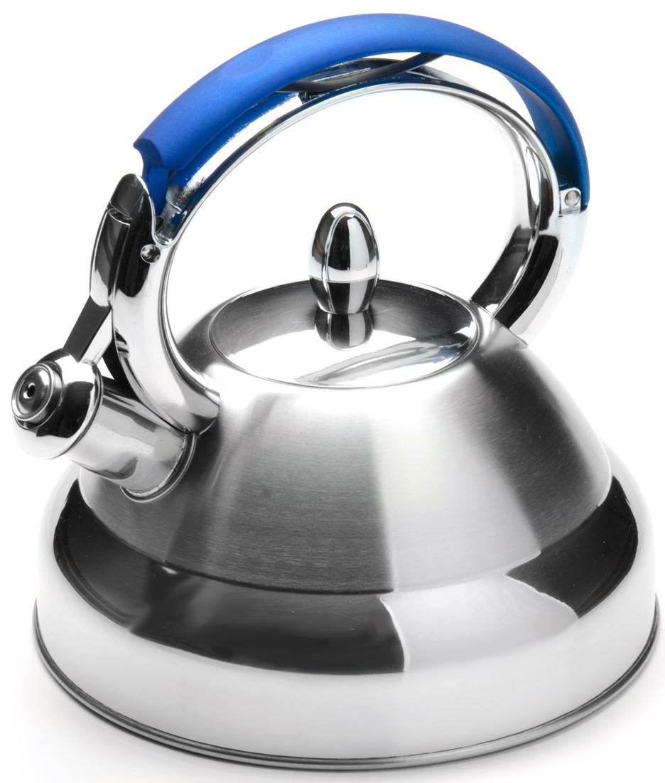 """Чайник """"Mayer & Boch"""" изготовлен из высококачественной нержавеющей стали. Изделия из нержавеющей стали не окисляются и не впитывают запахи, благодаря чему вы всегда получите натуральный, насыщенный вкус и аромат напитков. Капсулированное дно с прослойкой из алюминия обеспечивает наилучшее распределение тепла. Удобная фиксированная ручка выполнена из нержавеющей стали и бакелита, также на ручке расположена клавиша механизма открывания носика. Носик чайника оснащен насадкой-свистком, который позволяет контролировать процесс кипячения или подогрева воды. Поверхность чайника гладкая, что облегчает уход за ним. Эстетичный и функциональный, с современным дизайном, чайник будет оригинально смотреться на любой кухне. Подходит для использования на всех типах плит, включая индукционные. Подходит для мытья в посудомоечной машине."""
