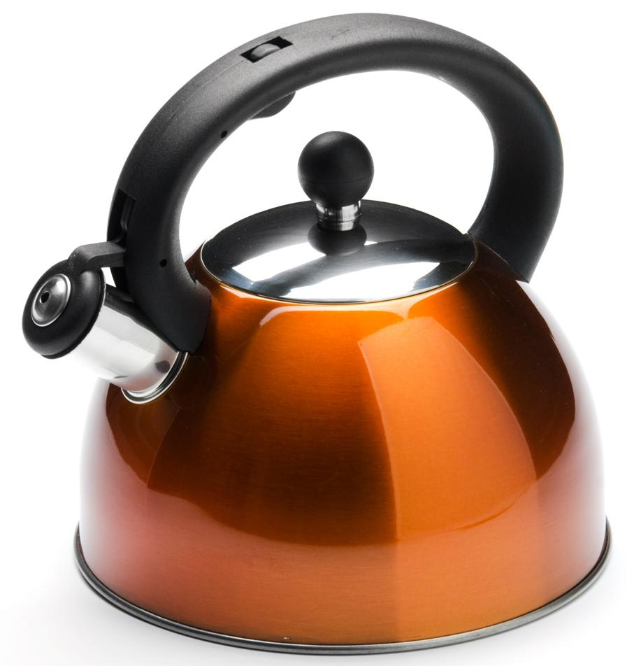 """Чайник """"Mayer & Boch"""" изготовлен из высококачественной нержавеющей стали.  Изделия из нержавеющей стали не окисляются и не впитывают запахи,  благодаря чему вы всегда получите натуральный, насыщенный вкус и аромат  напитков.  Капсулированное дно с прослойкой из алюминия обеспечивает наилучшее  распределение тепла. Удобная фиксированная ручка выполнена из бакелита,  также на ручке расположена клавиша механизма открывания носика. Носик  чайника оснащен насадкой-свистком, который позволяет контролировать  процесс кипячения или подогрева воды. Поверхность чайника гладкая, что  облегчает уход за ним.  Эстетичный и функциональный, с современным дизайном, чайник будет  оригинально смотреться на любой кухне. Подходит для использования на всех  типах плит, включая индукционные. Подходит для мытья в посудомоечной  машине."""