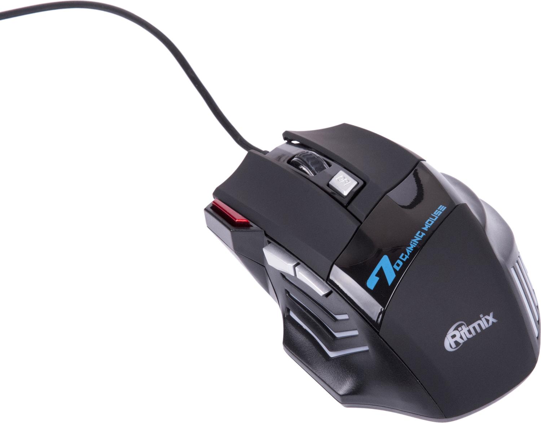 Ritmix ROM-345, Black мышь мышь проводная ritmix rom 111 чёрный usb