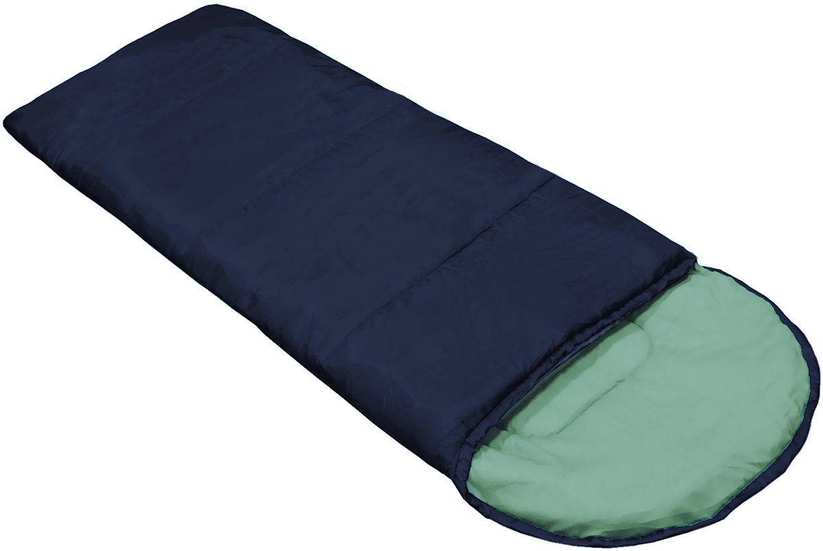 Спальный мешок Picrest, с утеплителем, цвет: темно-синий, 190 х 75 см