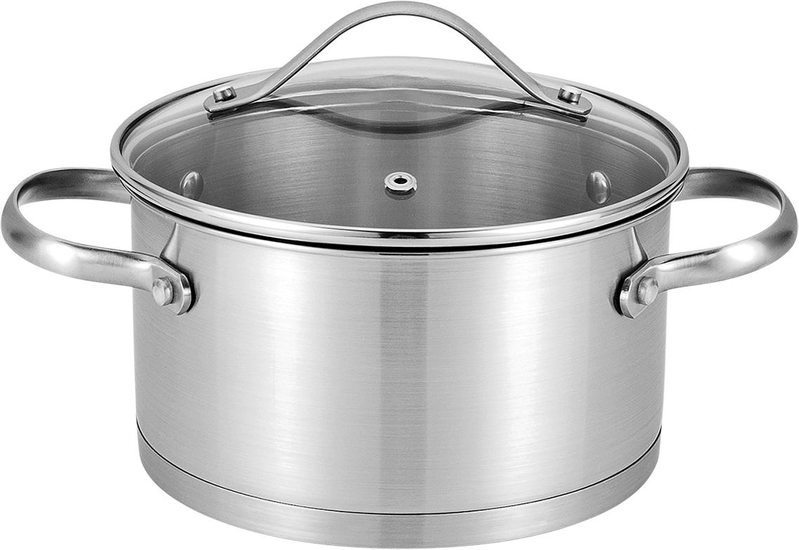 Высококачественная нержавеющая сталь. Прочное трехслойное капсульное дно для равномерного термораспределения. Подходит для всех типов плит. Маркировка литража для простого определения объема воды и продуктов. Поверхность легко чистится. Можно мыть в посудомоечной машине. Можно использовать в духовке (Макс. 200С).
