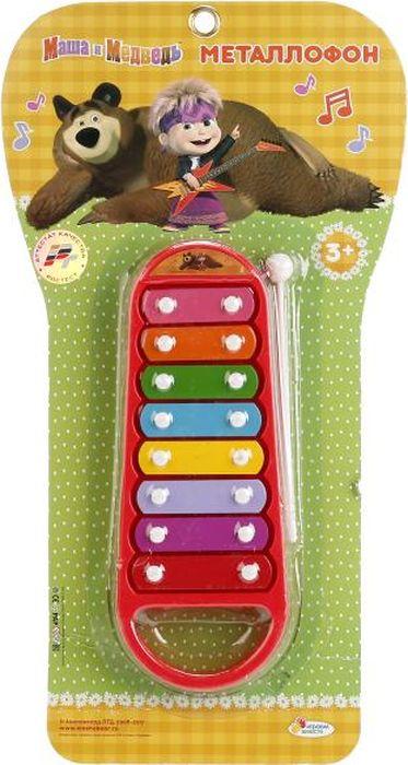Играем вместе Металлофон Маша Медведь B514604-R играем вместе умные часы электронные b1654563 r2