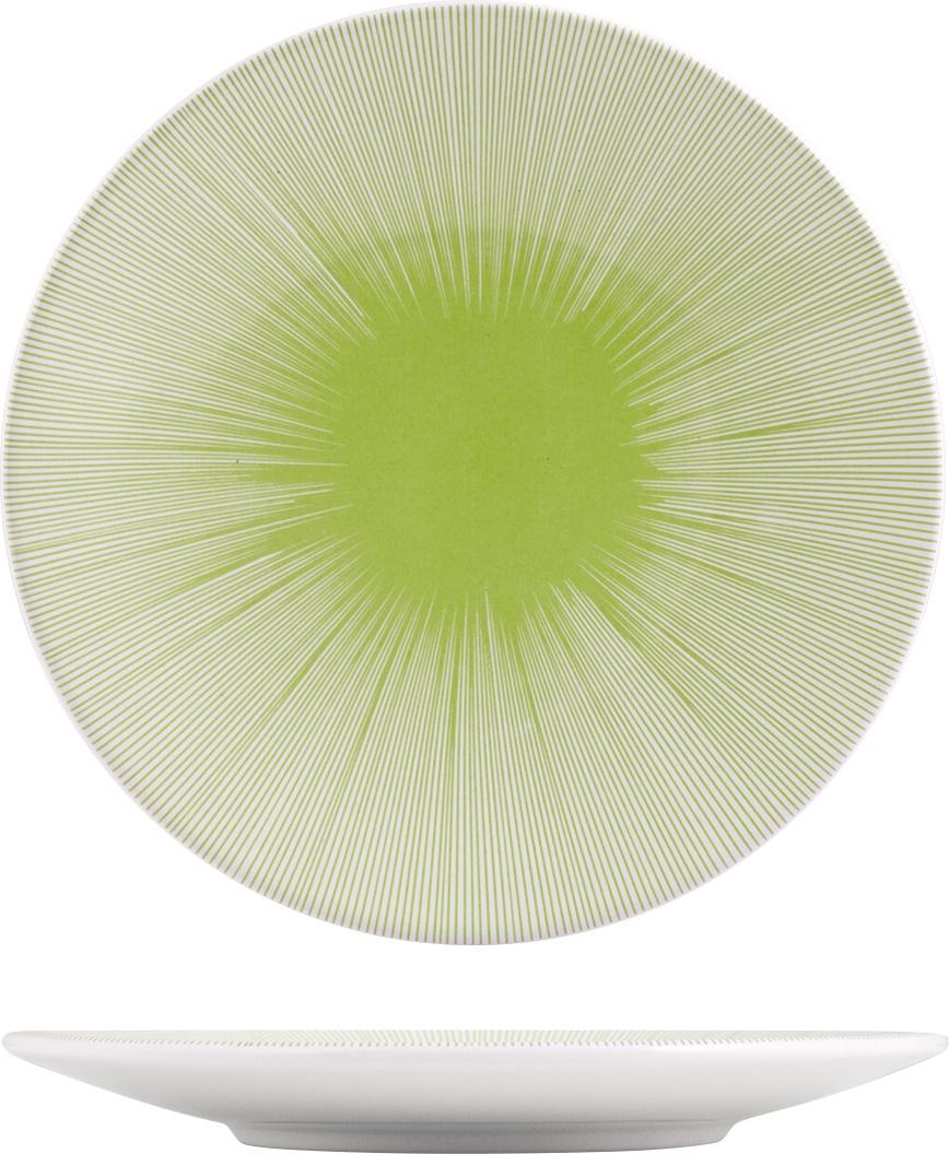 Тарелка десертная H&H Лайм, цвет: белый, зеленый, диаметр 20 см тарелка десертная ажурный узор d 20 5см h 2см min6 рельеф без подарочной упаковки