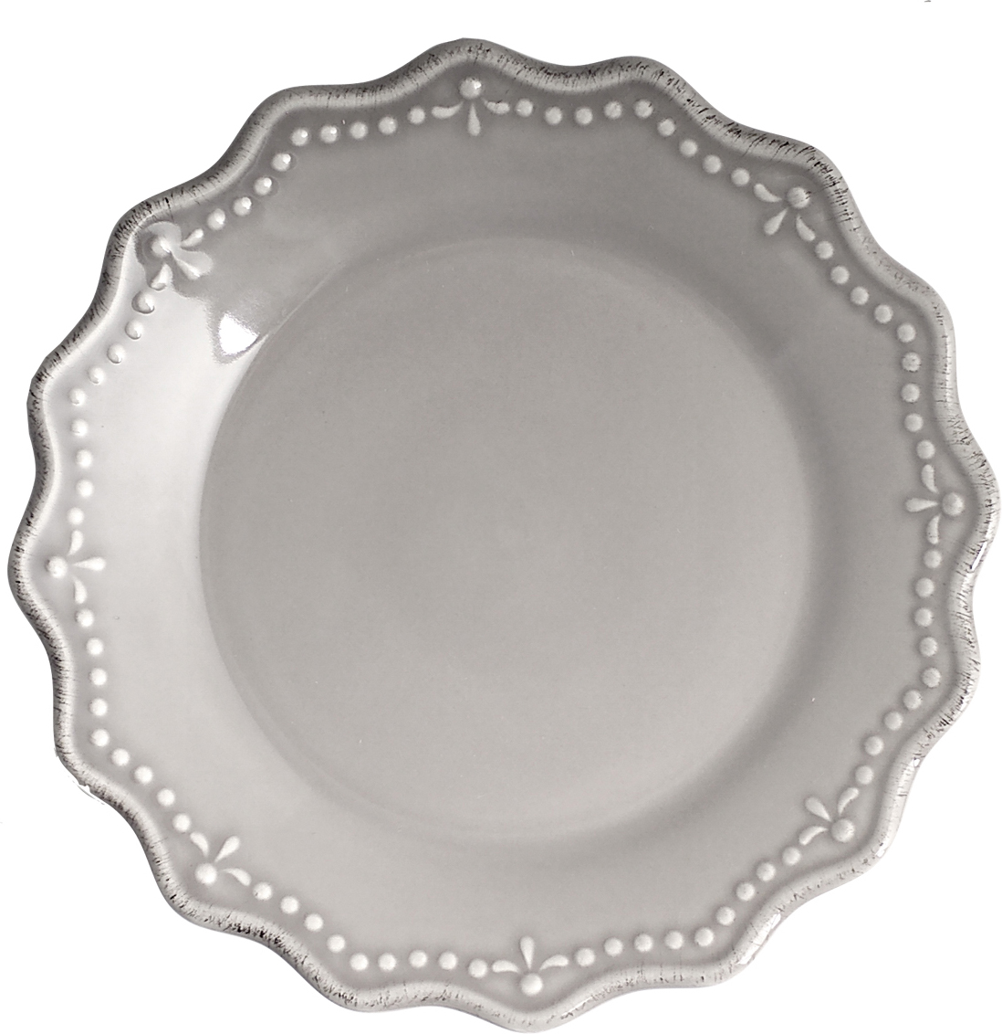 Тарелка десертная H&, цвет: серый, диаметр 21 см