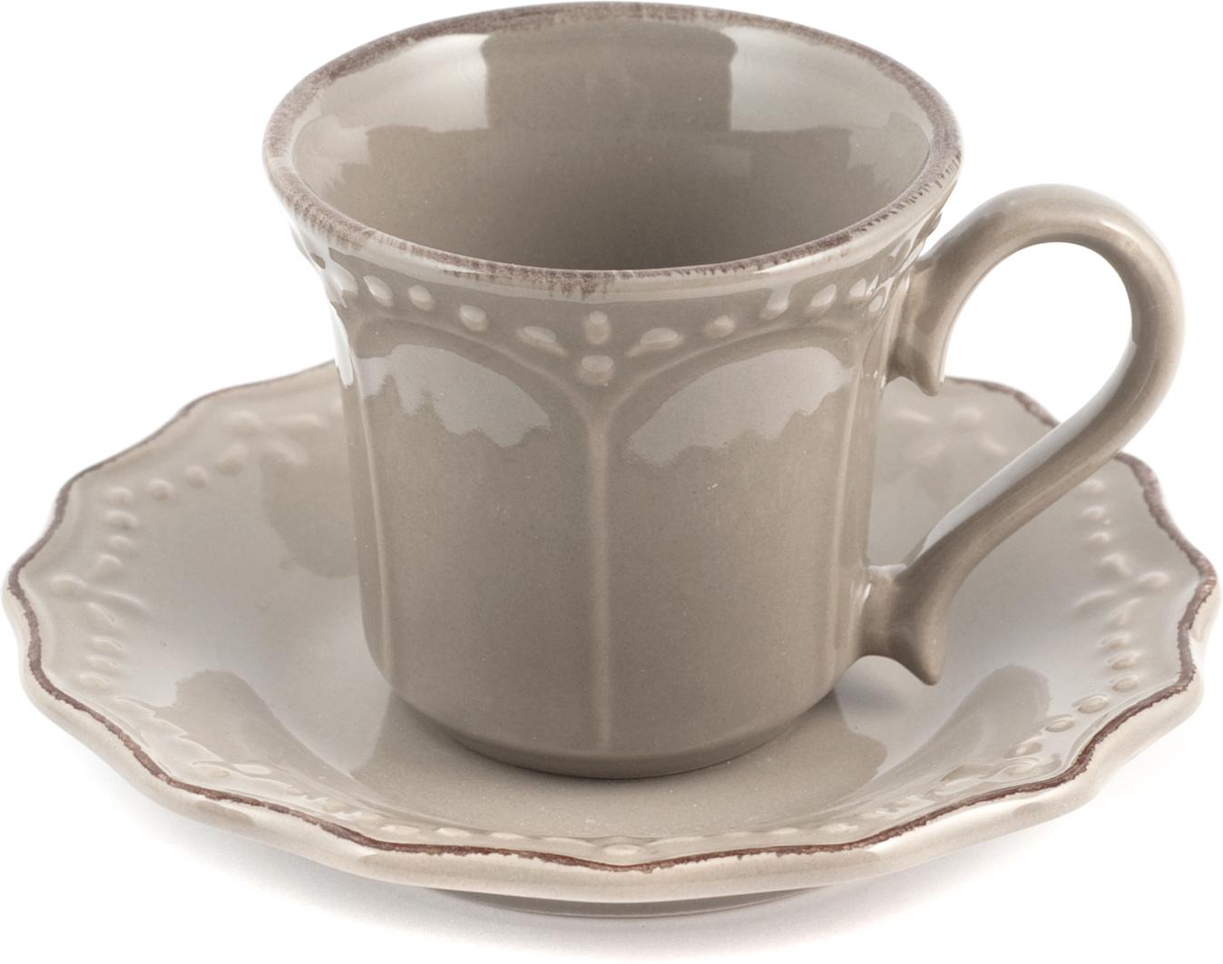 Кофе - напиток, который ценят и любят во всех странах мира. Однако не все знают, как на вкус этого напитка влияет посуда, в которой его подают. Кофейная пара Айвори создана специально для поклонников кофе и кофейных напитков. Приятная цветовая гамма, идеальный объем кружки в 180 мл и приятный текстурный узор позволят вам насладиться любимым напитком и с радостью угостить ваших гостей. Чашка и блюдце выполнены из керамики.