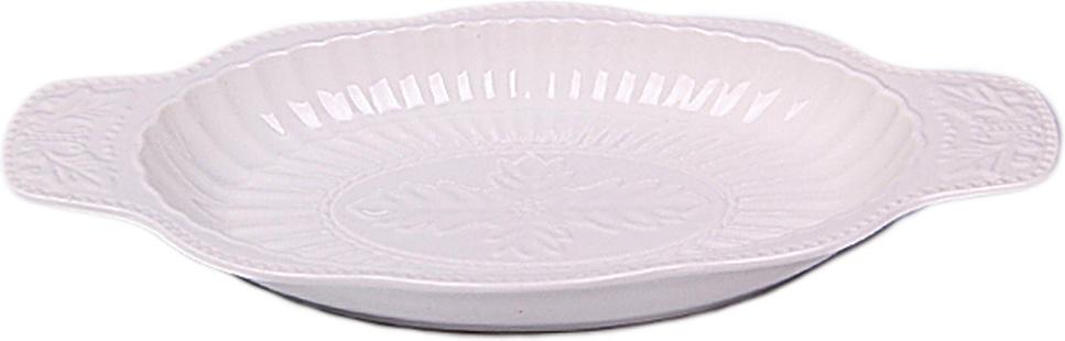 Блюдо-селедочница для различных закусок станет настоящим украшением вашего стола. Блюдо выполнено в белом цвете с интересным орнаментом.Можно мыть в посудомоечной машине.