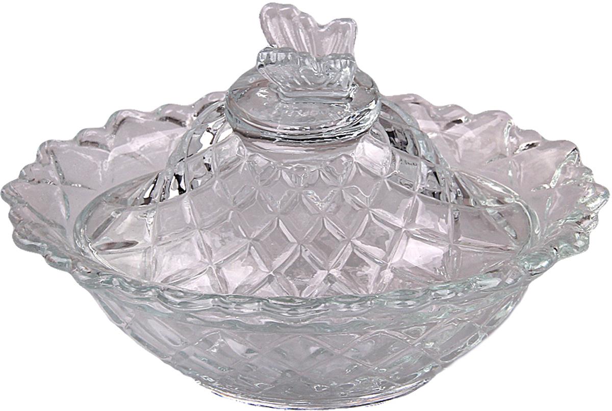 Сахарница Patricia, с крышкой, цвет: прозрачный. IM99-5740 конфетница на ножке patricia диаметр 25 см im99 5730