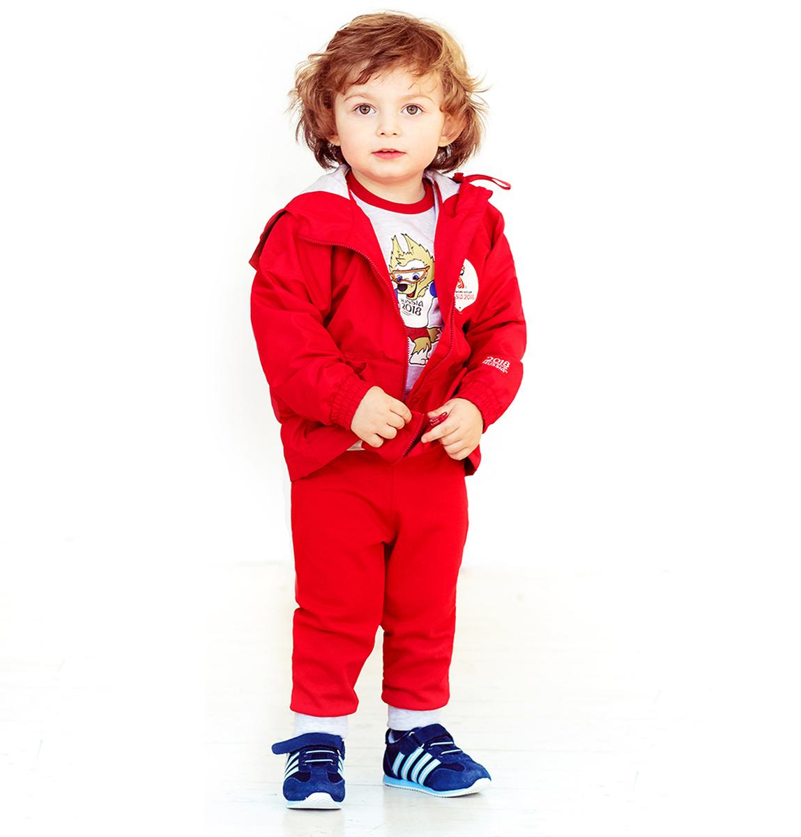 Куртка детская FIFA World Cup Russia, цвет: красный. F1-17. Размер 80/86