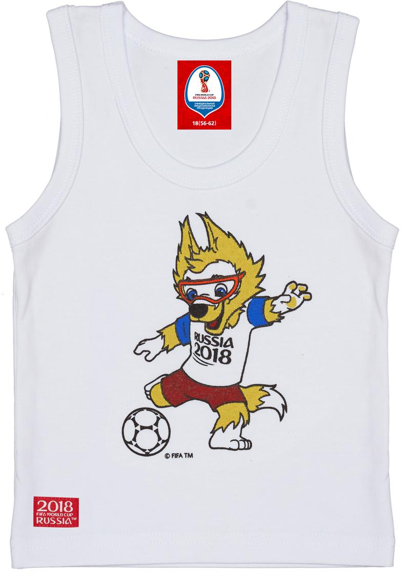 Майка детская FIFA World Cup Russia, цвет: белый. F1-25. Размер 68/74 майка борцовка print bar russia nebula