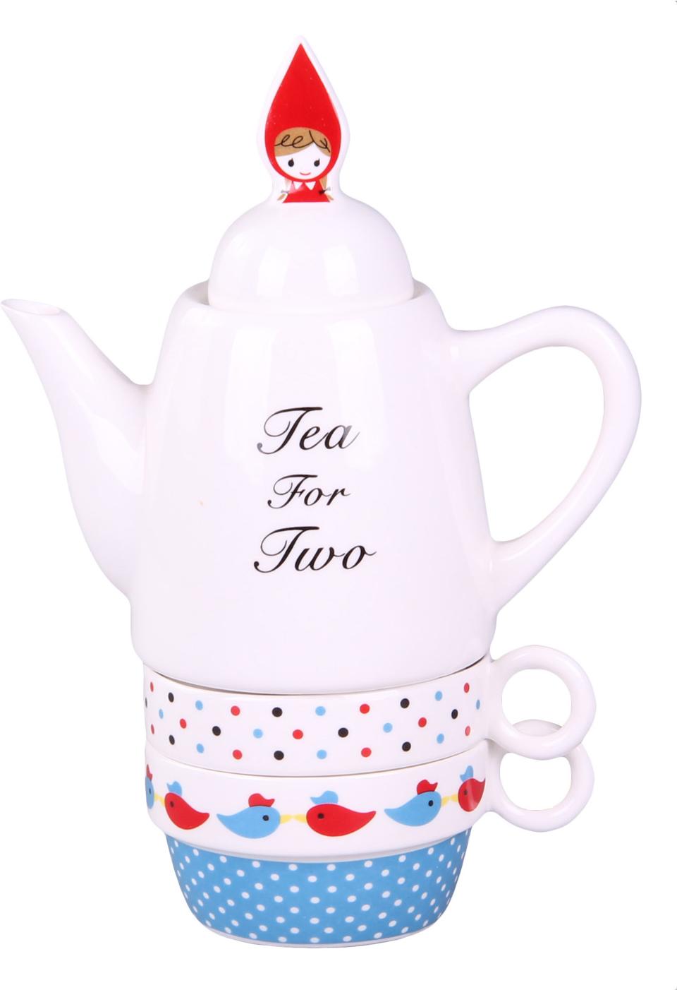 Чайный набор Patricia, цвет: мультиколор, 180 мл, 3 предмета набор чайный patricia даймонд 12 предметов im11348