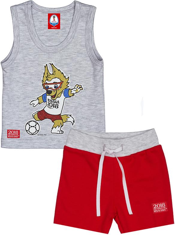 Пижама детская FIFA World Cup Russia, цвет: красный. F1-14. Размер 68/74