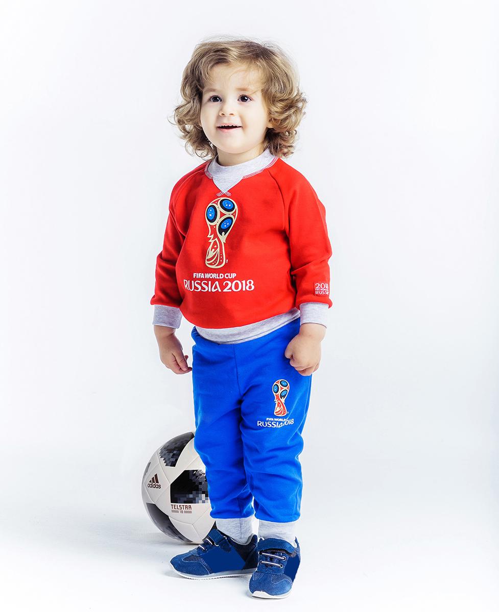 Толстовка детская FIFA World Cup Russia, цвет: красный. F1-16пф. Размер 74/80F1-16пфОригинальная толстовка с контрастными элементами и ярким принтом изготовлена из мягкого теплого футера и окрашена безопасной краской на водной основе. Советуем захватить эту толстовку, если вы собираетесь на стадион, чтобы поболеть за любимую команду, или на прогулку в парке. Ведь никогда не знаешь, как изменится погода через пару часов.