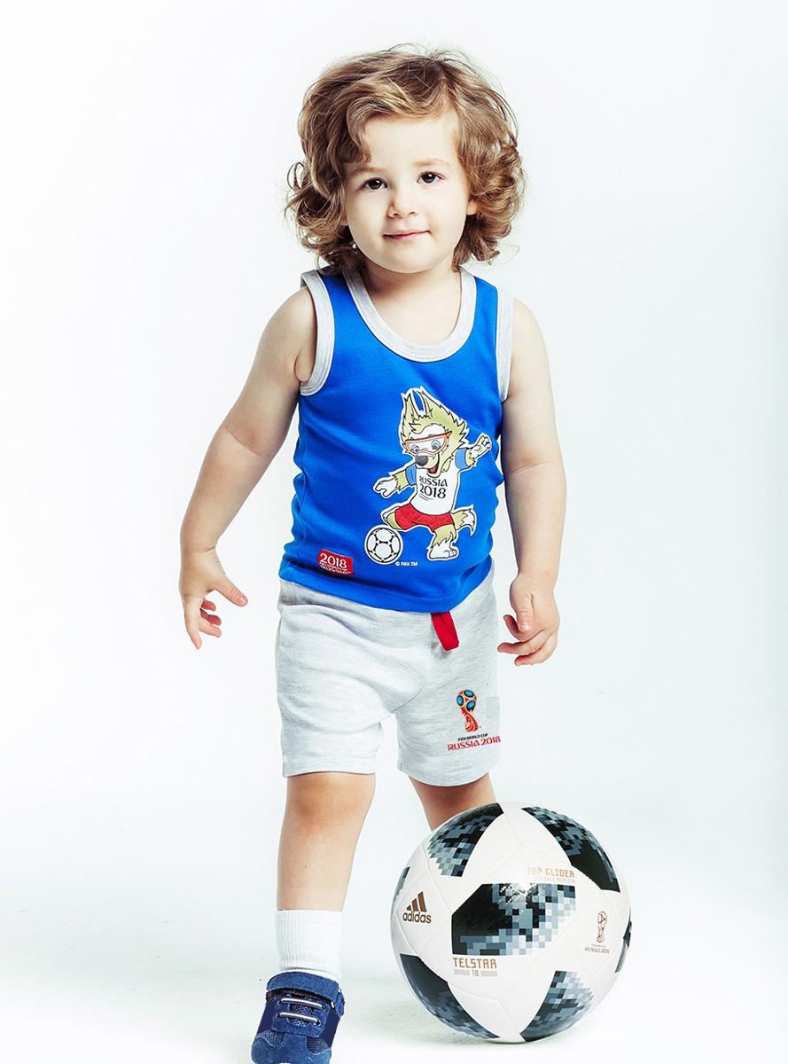Шорты детские FIFA World Cup Russia, цвет: серый. F1-20пф. Размер 80/86
