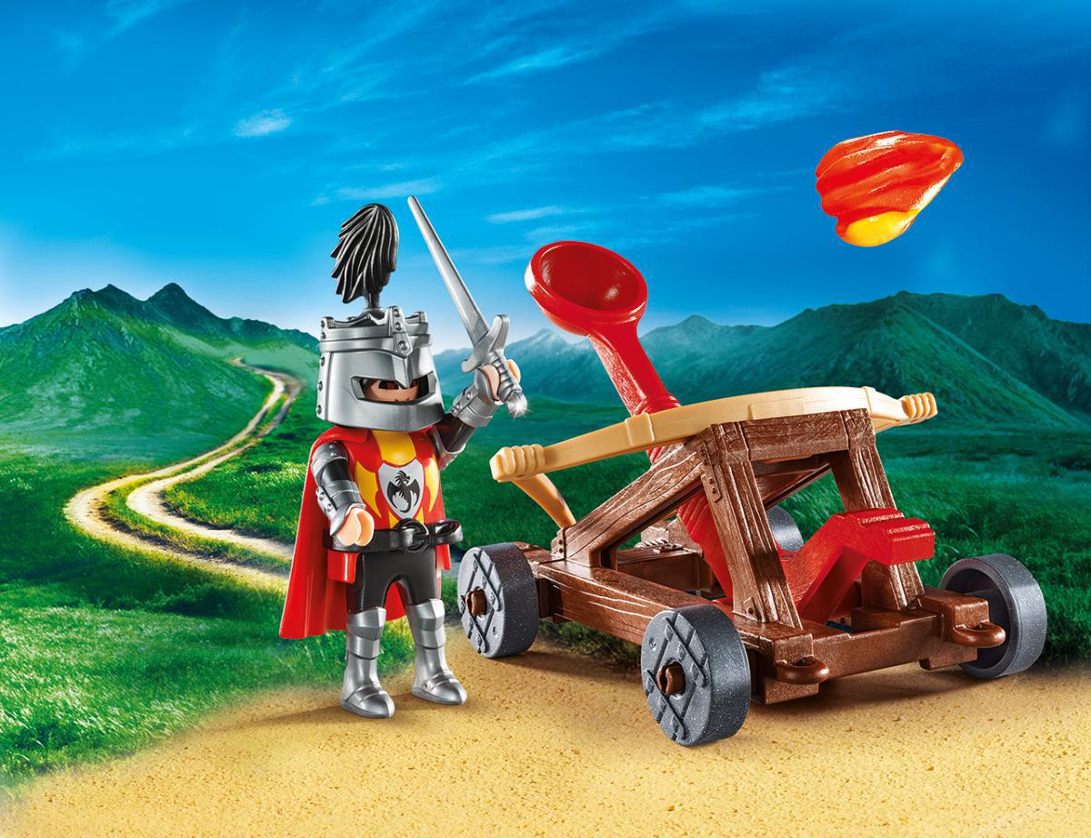 Playmobil Игровой набор Возьми с собой Рыцарь с катапультой заграевский с бедный рыцарь храма