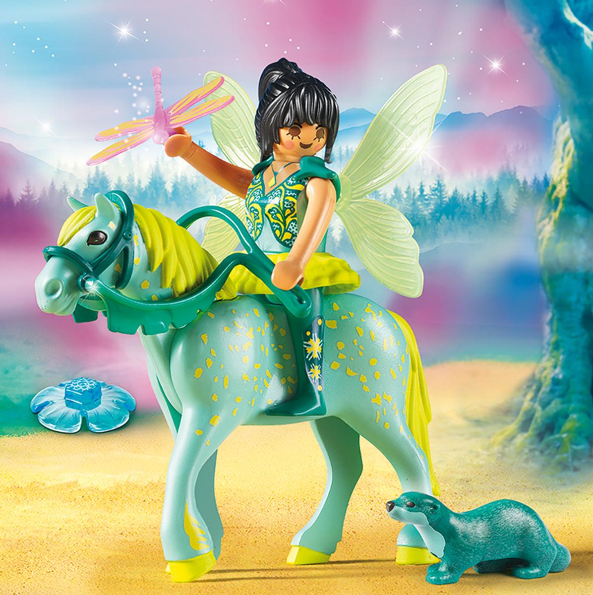 Playmobil Игровой набор Феи Зачарованная фея с лошадью любимые игры феи