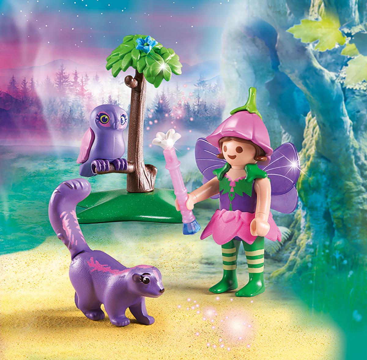 Playmobil Игровой набор Феи Девочка-фея с животными друзьями playmobil игровой набор девочка с морскими свинками