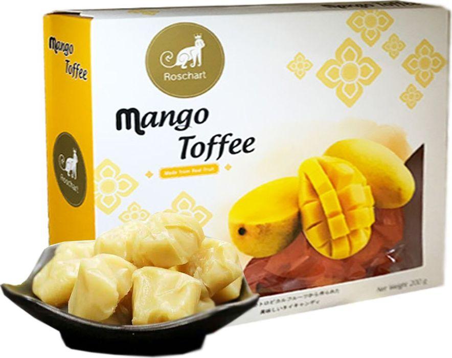 Roschart ириски из кокосового молока и пюре манго, 200 г