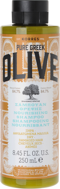 Korres Греческая Олива Шампунь питательный для сухих и поврежденных волос, 250 мл шампунь d oliva шампунь для сухих и поврежденных волос